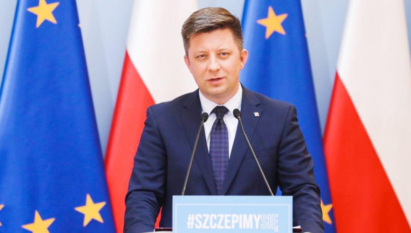 Michał Dworczyk: niewystarczający poziom zaszczepienia to groźba czwartej fali i lockddownu (fot.TT/Kancelaria Premiera)
