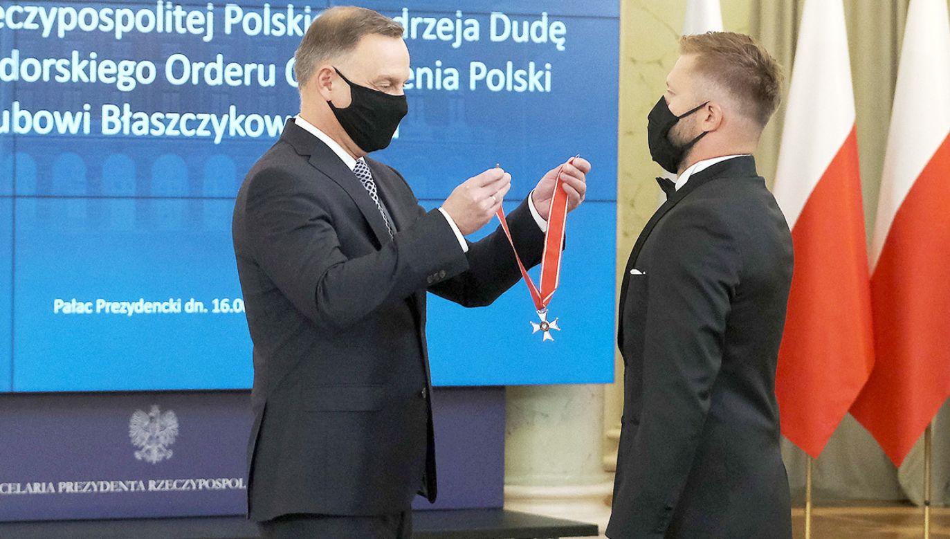 Prezydent RP odznaczył Jakuba Błaszczykowskiego (fot. PAP/Mateusz Marek)