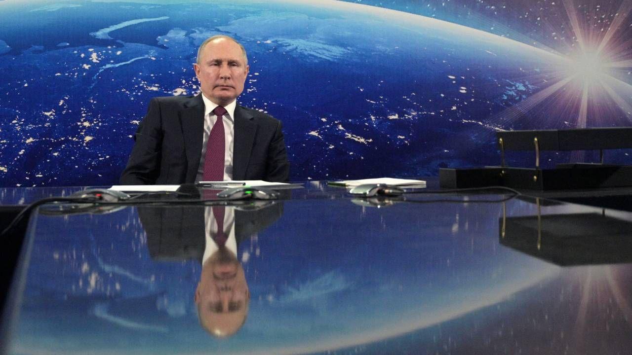 Rosja Władimira Putna stanowi zagrożenie dla światowego bezpieczeństwa (fot. PAP/EPA/ALEXEI DRUZHININ / KREMLIN / SPUTNIK / POOL)