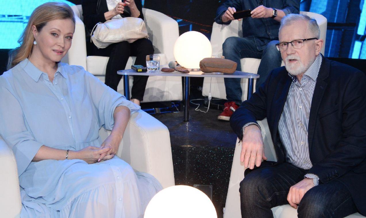 Swoją wiedzę sprawdzili między innymi Cezary Morawski i Agnieszka Wagner (fot. TVP/ Jan Bogacz)