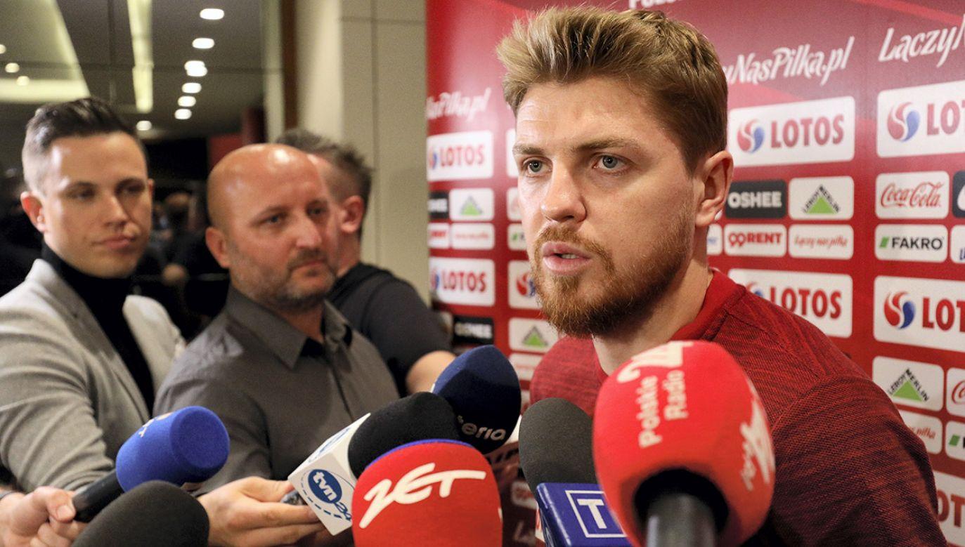 Dominik Furman przyjechał na zgrupowanie w miejsce kontuzjowanego Karola Linetty'ego (fot. PAP/Paweł Supernak)