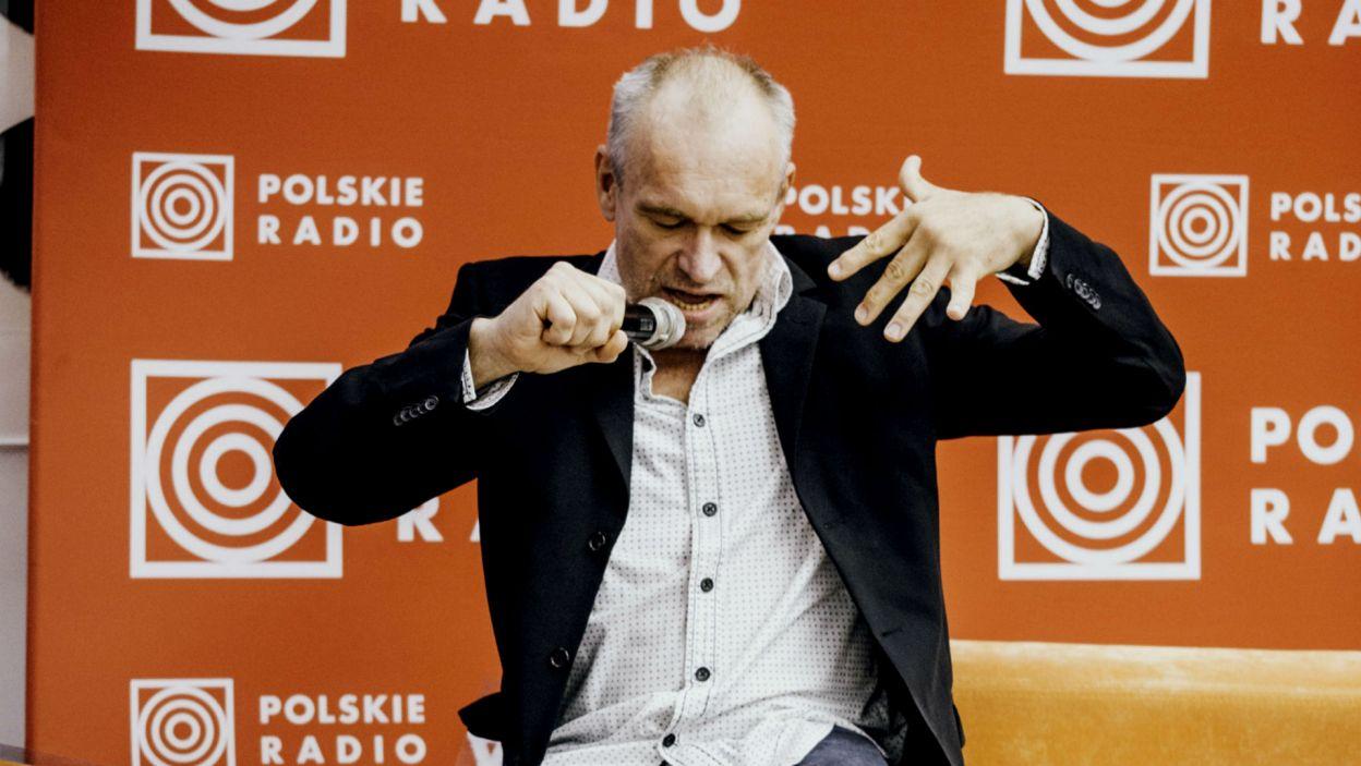 Mariusz Bonaszewski jak zwykle pełen ekspresji (fot. S. Loba/TVP)