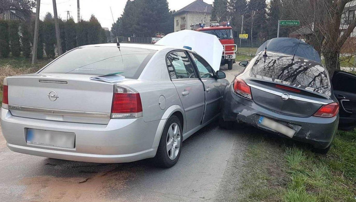 Finał dramatycznego pościgu (fot. malopolska.policja.gov.pl)