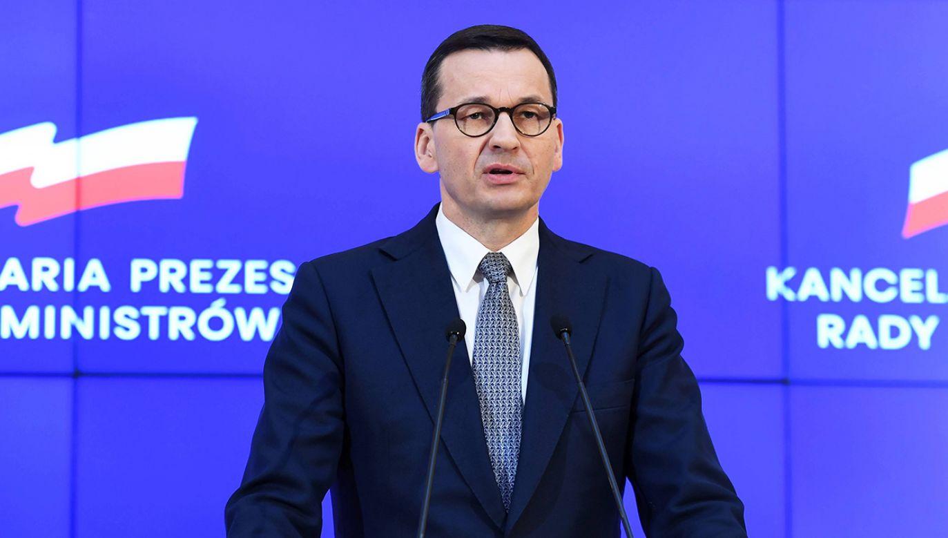 Mateusz Morawiecki zapowiedział wstrzymanie zajęć w szkołach do Wielkanocy (fot. PAP/Piotr Nowak)