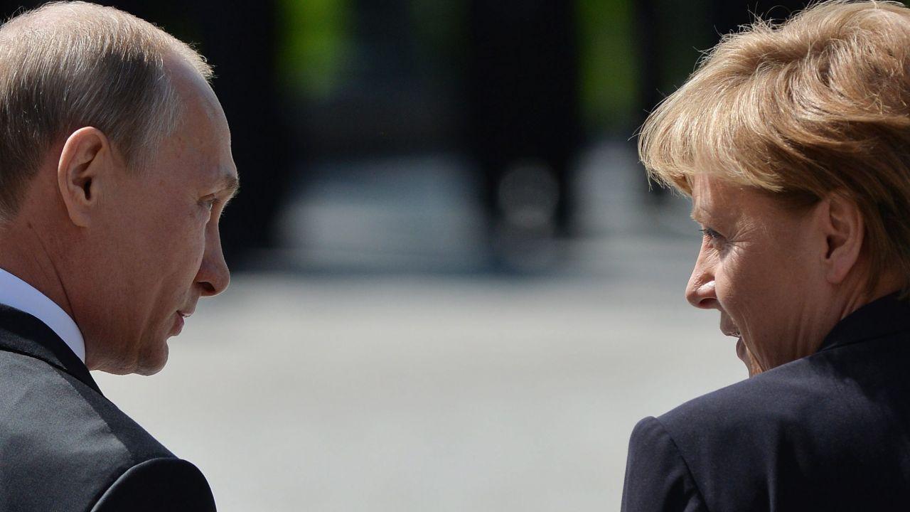 Angela Merkel z wizytą w Moskwie u Władimira Putina (fot. GettyImages)