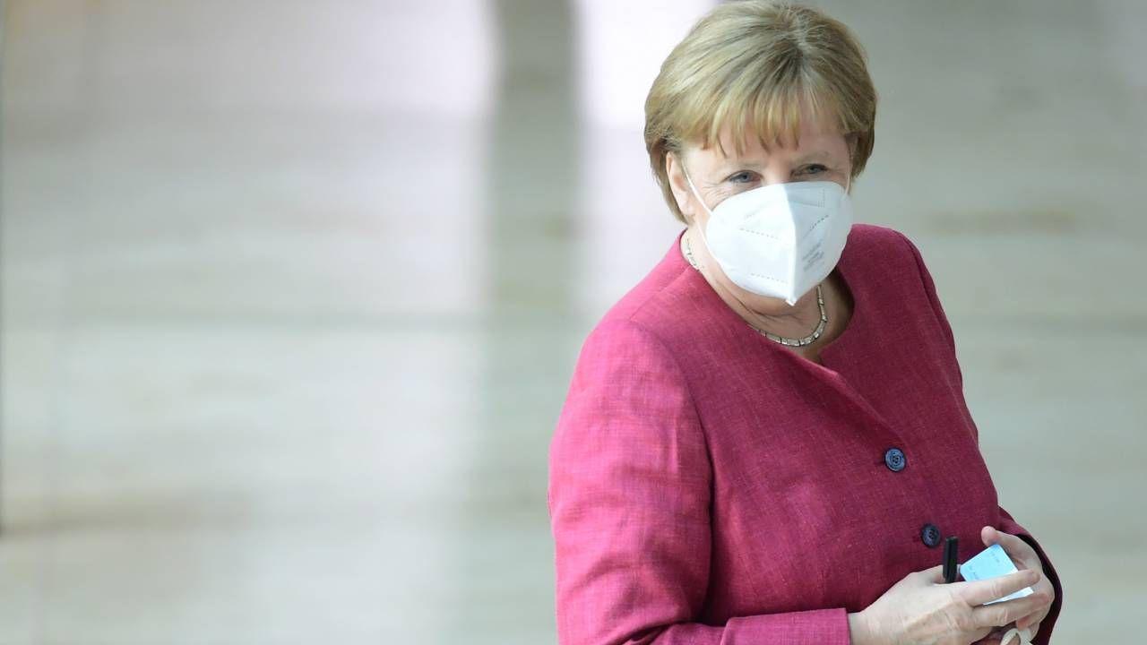 Niemiecka kanclerz Angela Merkel (fot. PAP/EPA/CLEMENS BILAN)