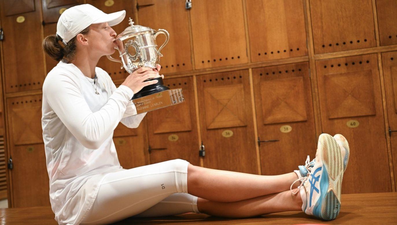 W wywiadzie tenisistka podkreśliła, że stara się jak najwięcej czasu poświęcać treningom (fot. PAP/EPA)