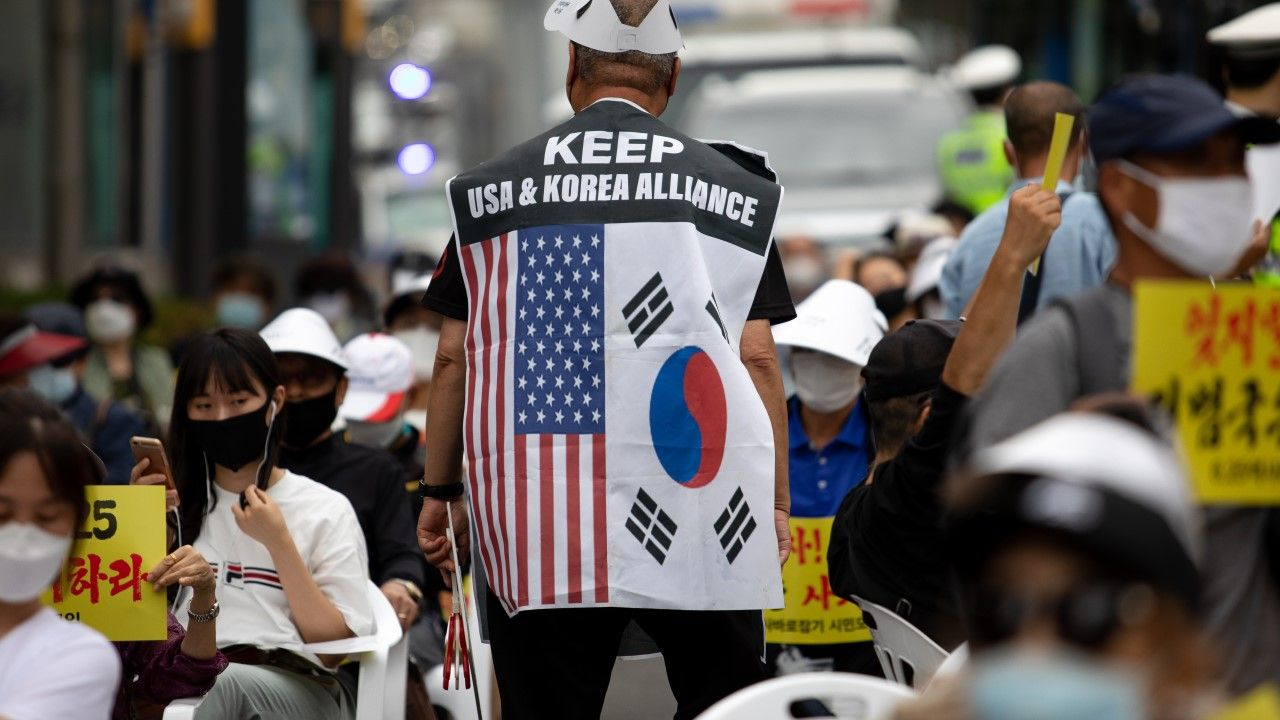 USA i Korea Płd. osiągnęły porozumienie w sprawie nowej umowy (fot. Chris Jung/NurPhoto via Getty Images)