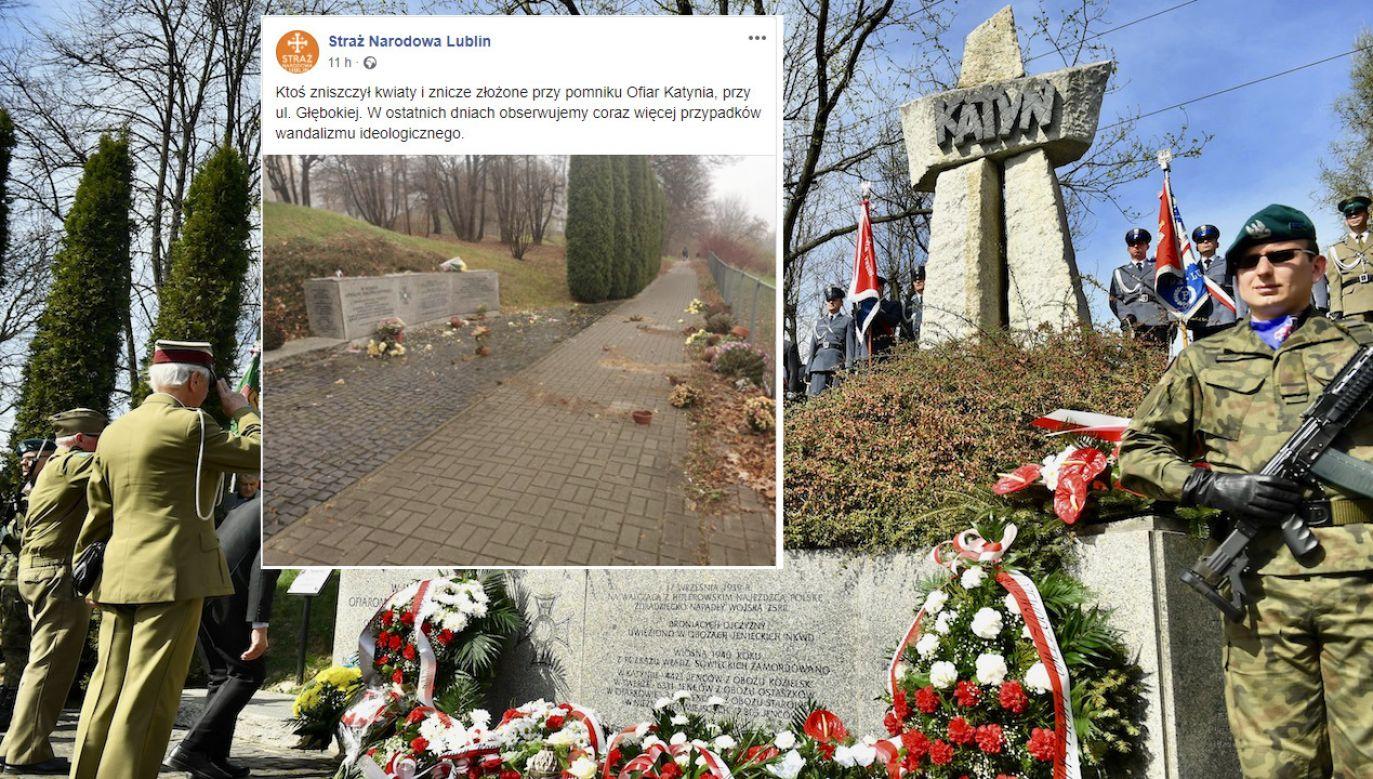 Pomnik Ofiar Katynia w Lublinie (fot. arch.PAP/Wojciech Pacewicz, Straż Narodowa Lublin)