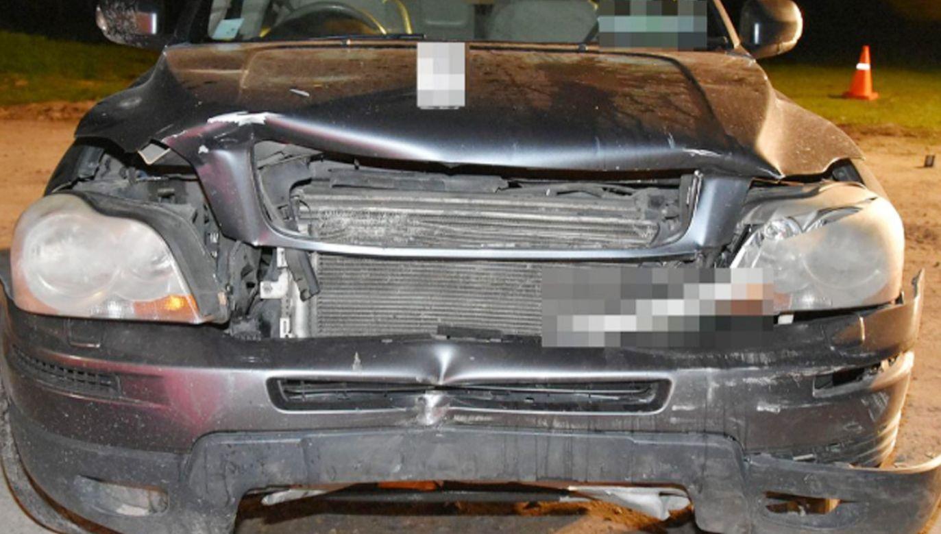 Kierowca volvo został zatrzymany.  (fot. Policja)