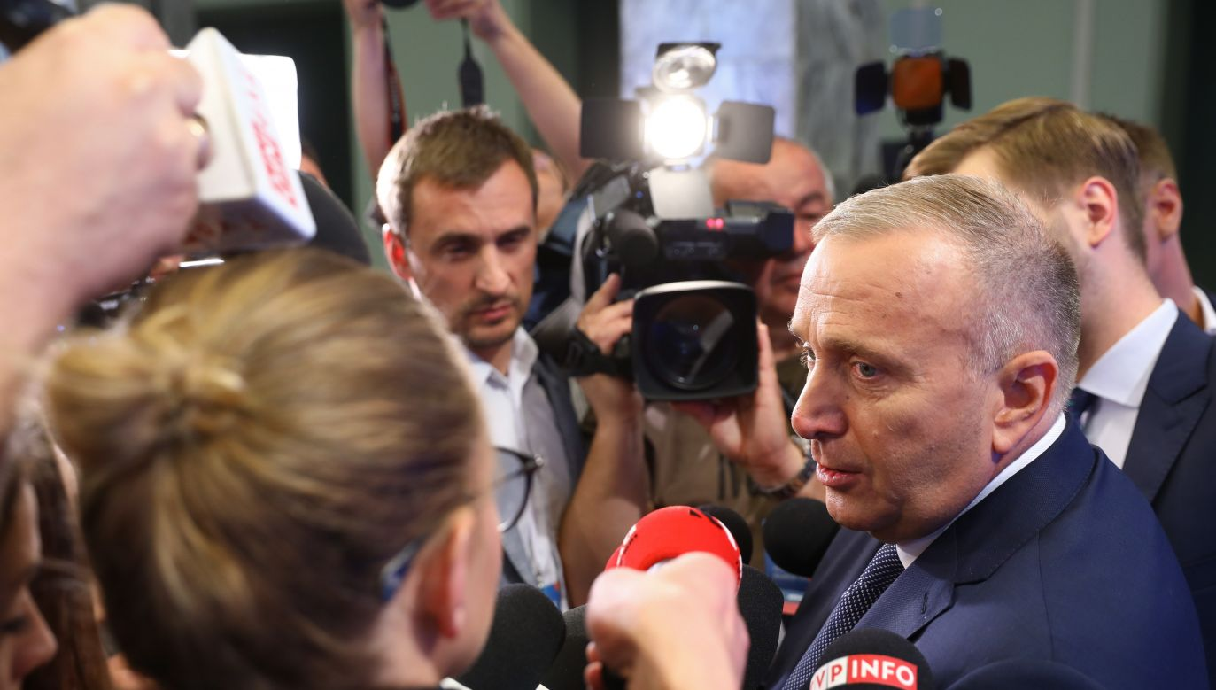Grzegorz Schetyna podczas Forum Programowego Koalicji Obywatelskiej (fot. PAP/Rafał Guz)