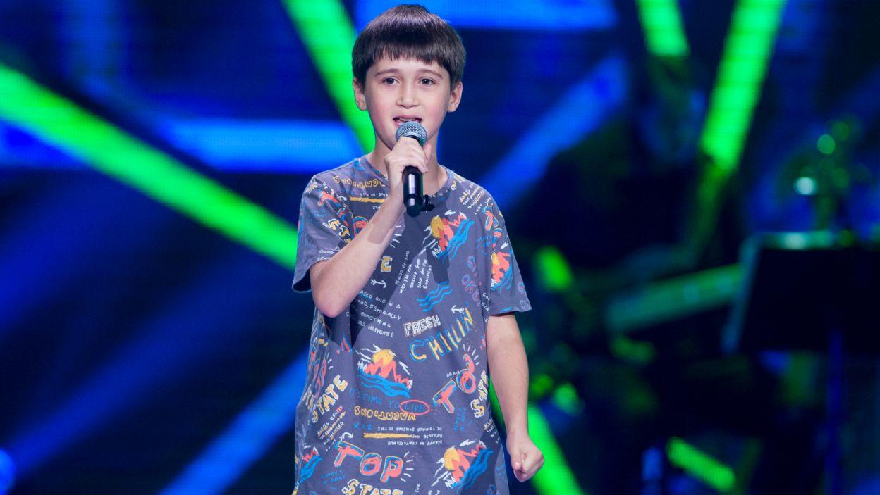 Cleo wciąż poszukiwała głosu do swojej drużyny... i wtedy pojawił się Dawid z piosenką Justina Timberlake'a (fot. TVP)