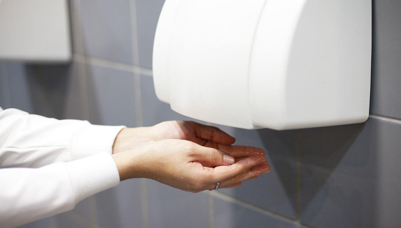 Suszarki do rąk w toaletach publicznych nie mają nic wspólnego z higieną (fot. Shutterstock/Stanislaw Mikulski)