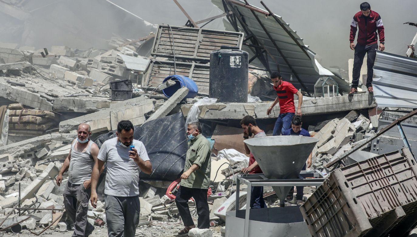 Liczba ofiar śmiertelnych wśród Palestyńczyków wzrosła do 115 (fot. PAP/EPA/MOHAMMED SABER)