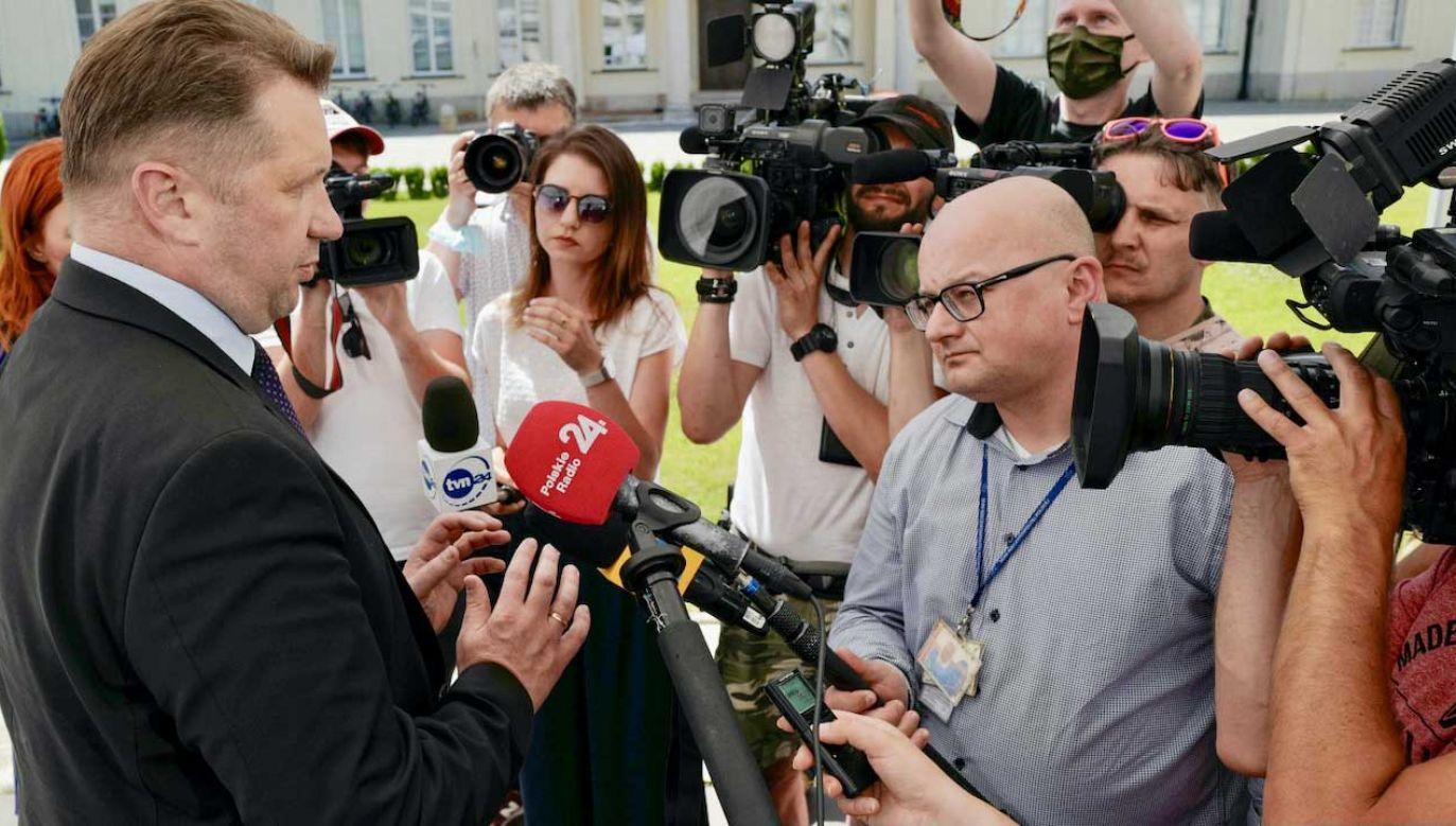 Przemysław Czanek odpowiada opozycji na wniosek o jego dymisję (fot. PAP/Mateusz Marek)