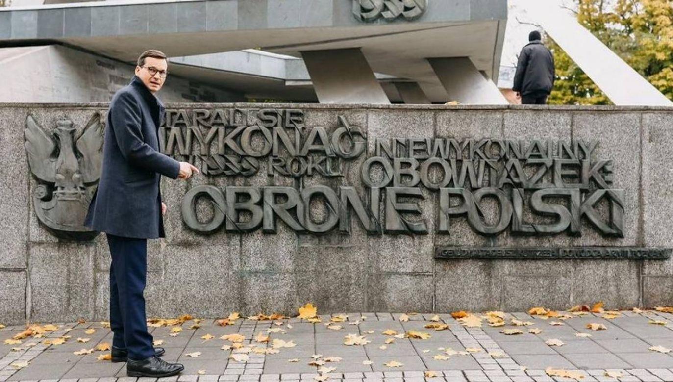 Premier Mateusz Morawiecki (fot. Facebook/MorawieckiPL)