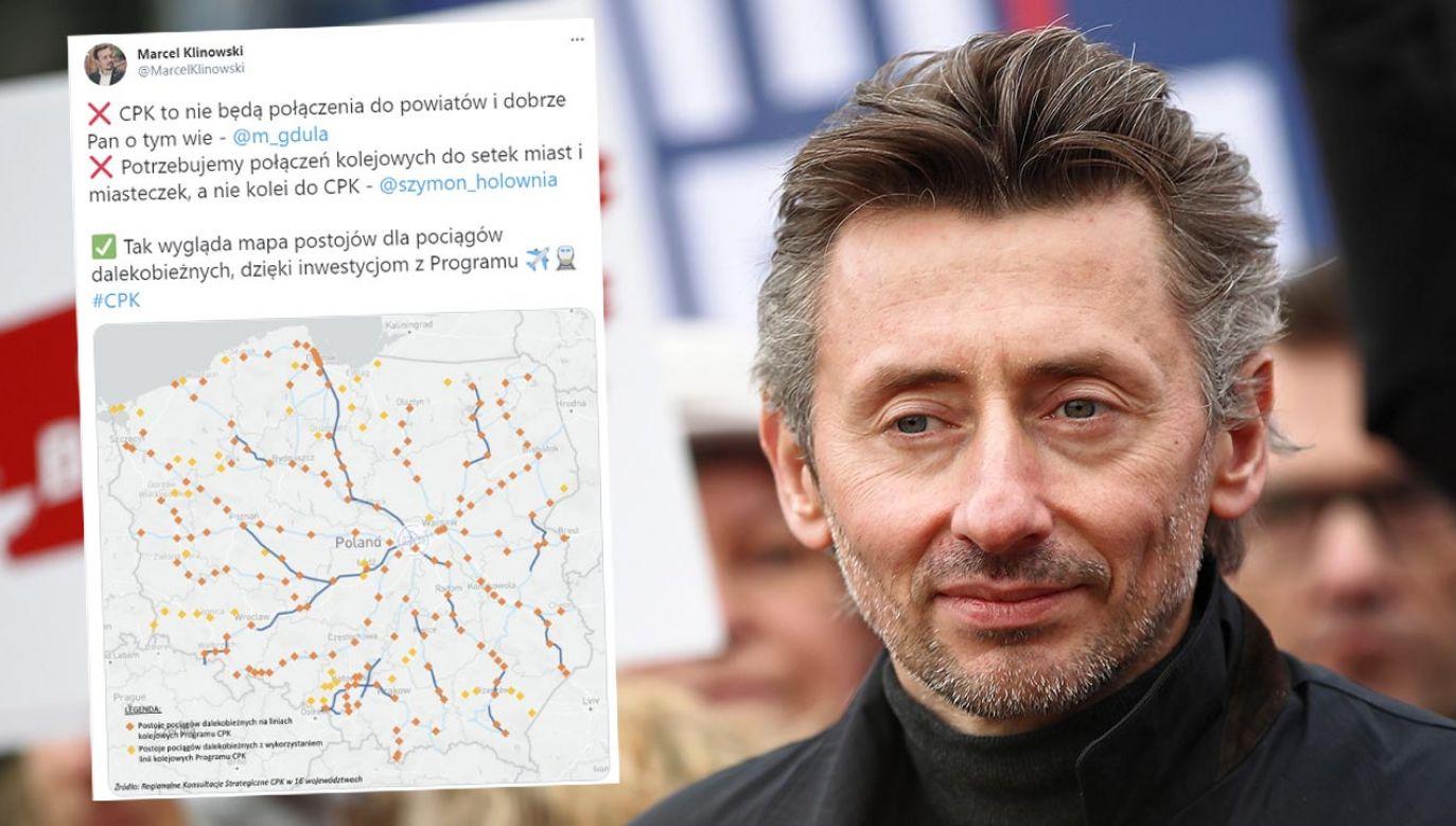 Marek Gdula uważa, że należy rozwijać transport publiczny z pominięciem projektu CPK (fot. PAP/Łukasz Gągulski)