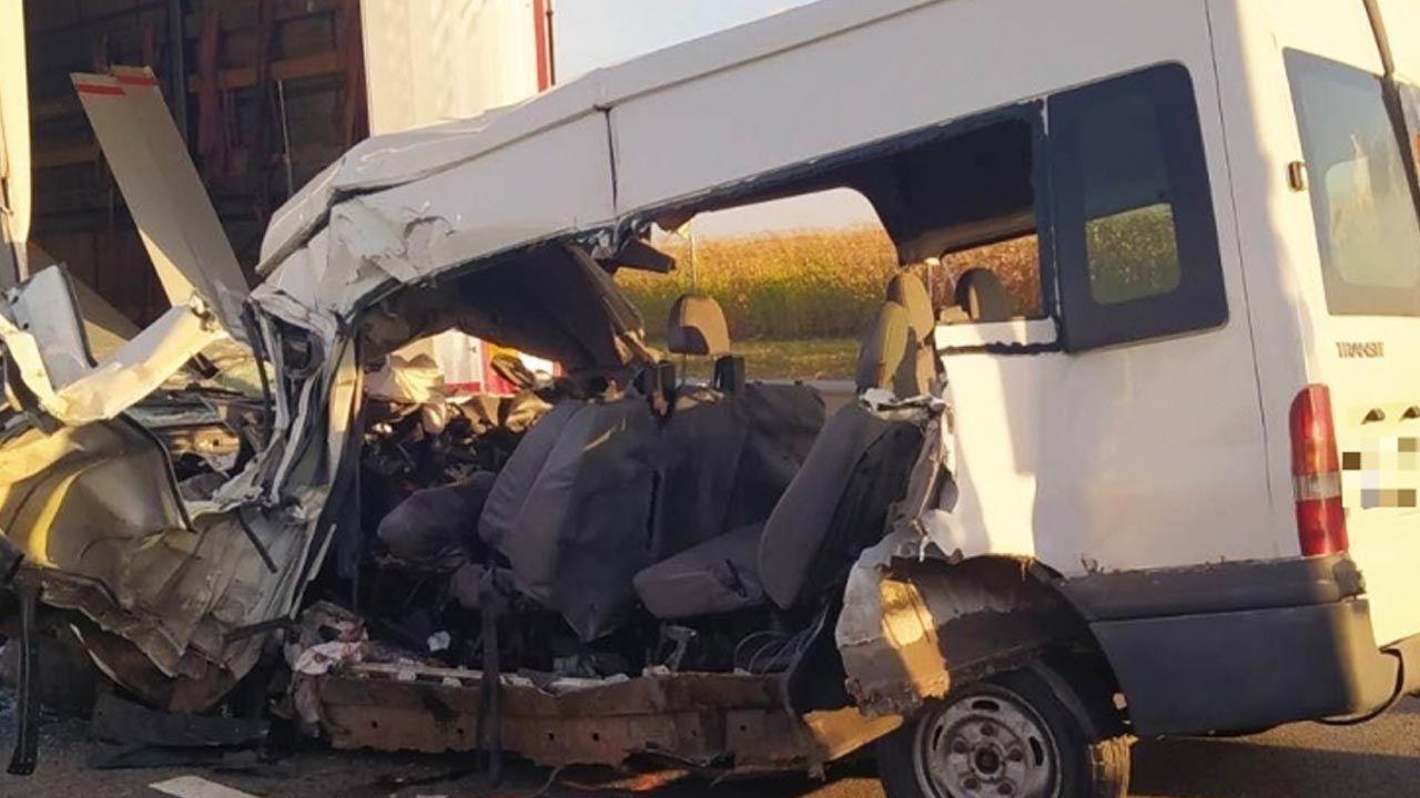Wypadek na autostradzie M4 z kierunku Budapesztu  (fot. police.hu)