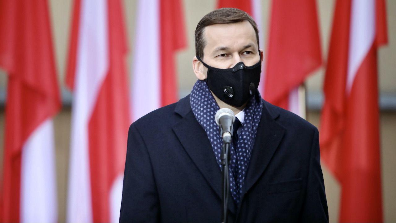 Mateusz Morawiecki uczcił pamięćŻołnierzy Wyklętych (fot. PAP/L.Szymański)