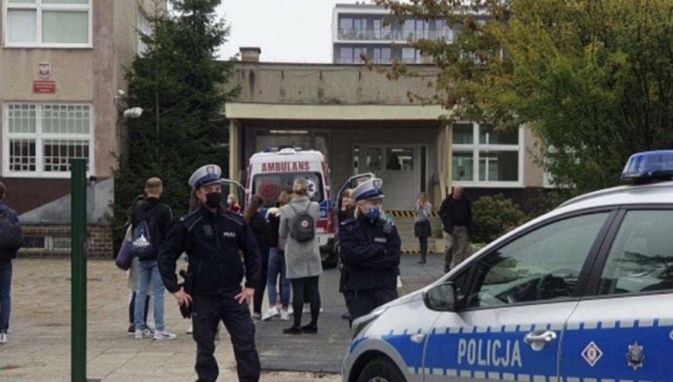 Do ataku doszło na lekcji (fot. TVP Info)