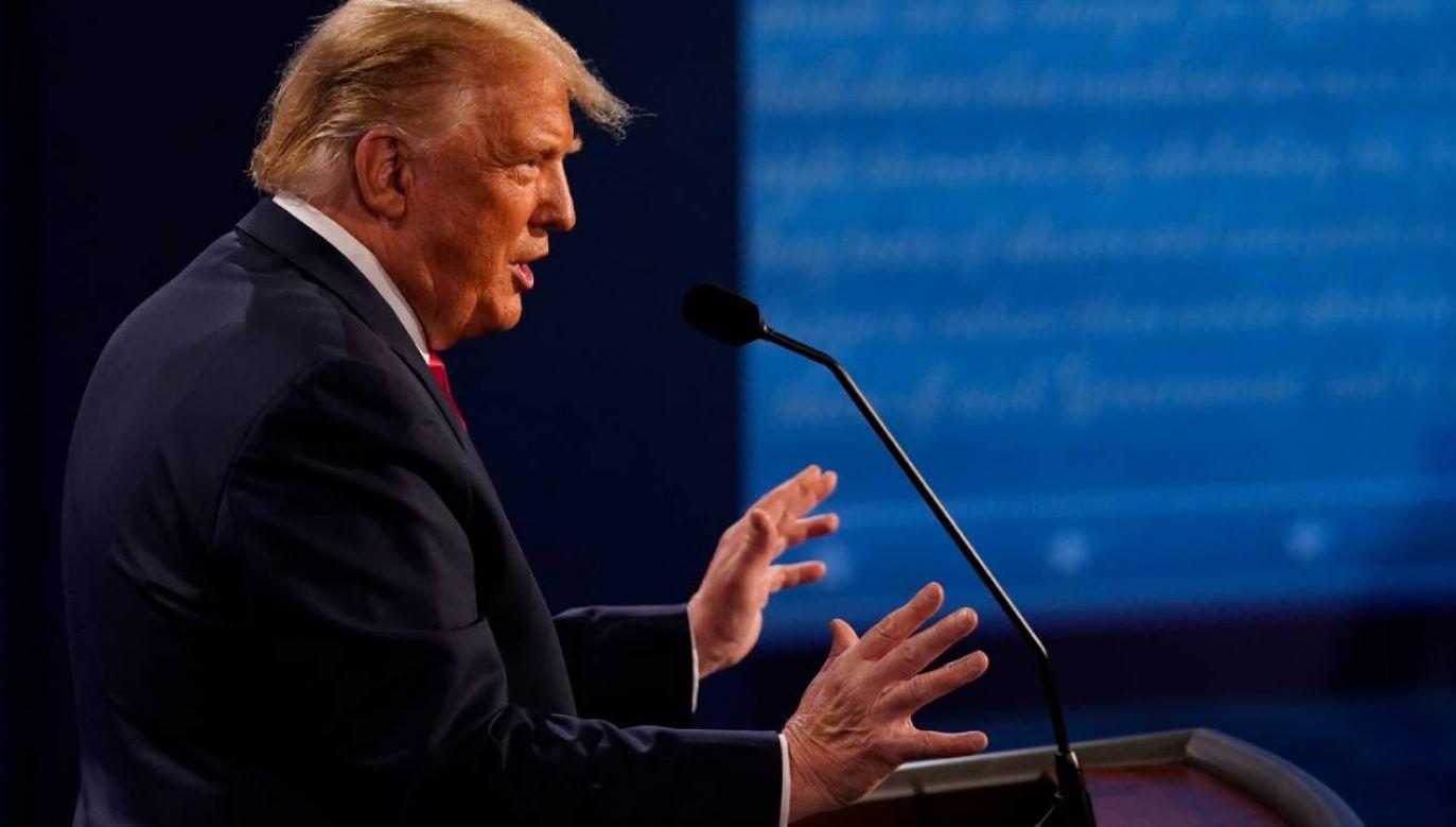 Gdyby Donald Trump debatował trzy tygodnie temu tak jak w czwartek, to mógłby być w innym miejscu – ocenia publicysta (fot. PAP/EPA/Morry Gash / POOL)