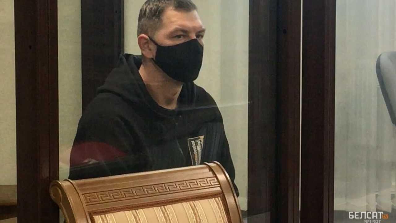 Alaksandr Kardziukou trafi na 10 lat do kolonii karnej (fot. TV Biełsat)