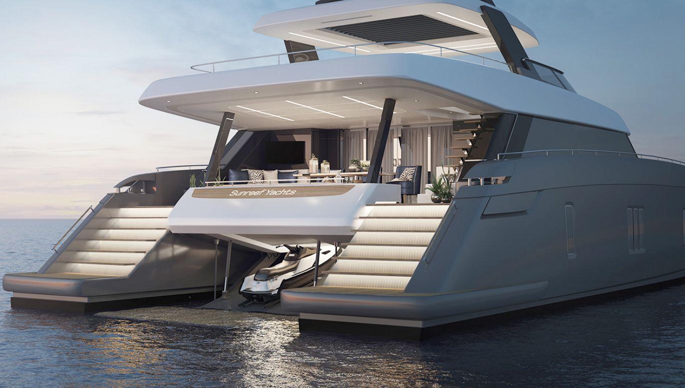 Spersonalizowany katamaran ma mieć około 24 metrów długości i 12 szerokości (fot. Sunreef Yachts)