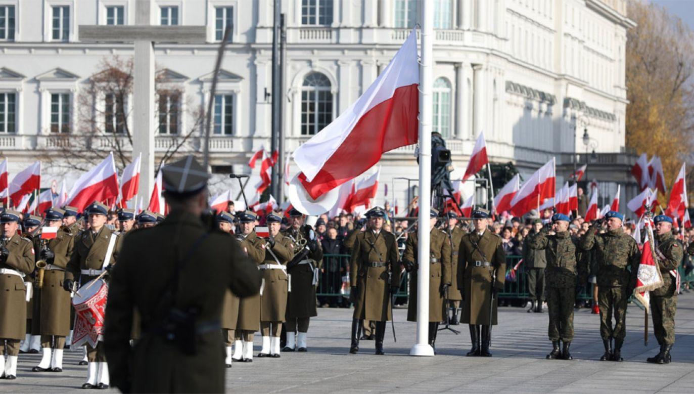 Uroczystości na pl. Piłsudskiego w Warszawie (fot. TT/KPRM)