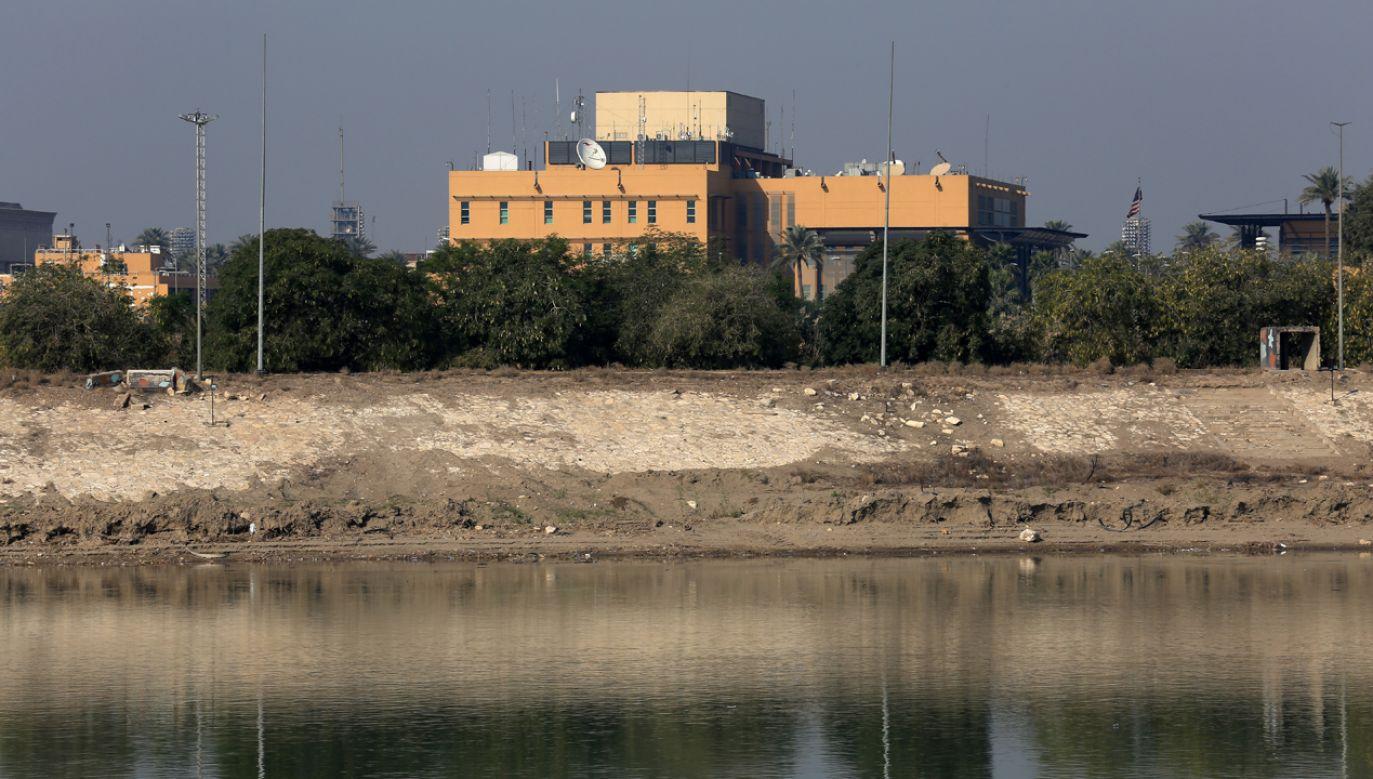 Ambasada USA położona jest w tzw, zielonej strefia (fot, Getty Images/Murtadha Sudani)