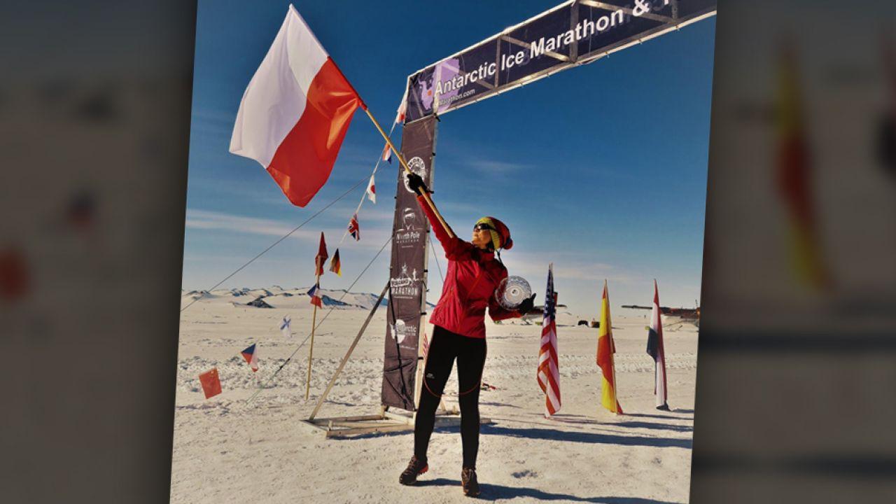 Joanna Mędraś wygrała maraton w 20-stopniowym mrozie (fot. Facebook/Joanna Medras)