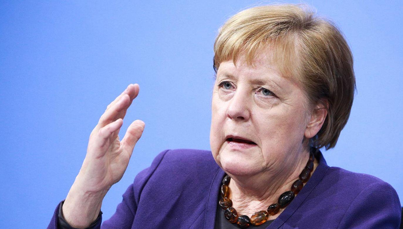 Angela Merkel o szczepionkach (fot. PAP/EPA/CHRISTIAN MARQUARDT / POOL)