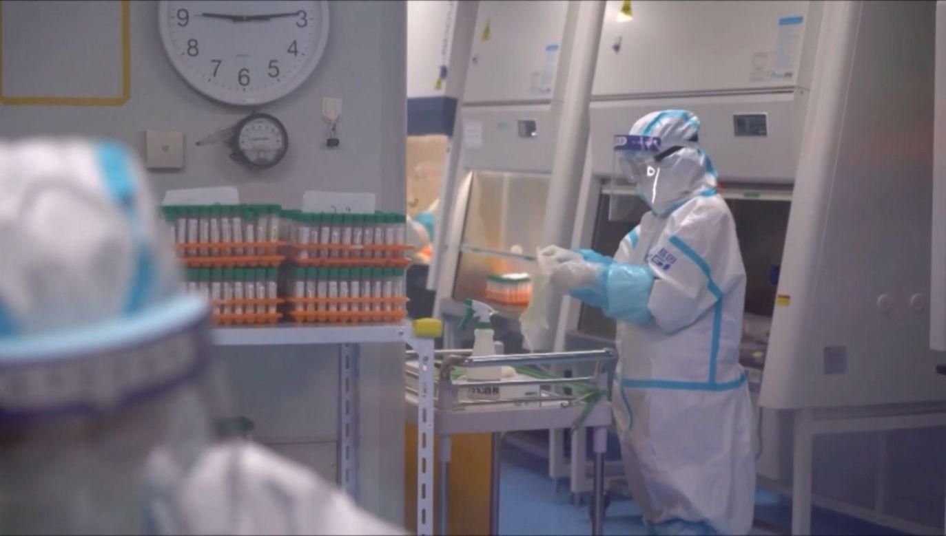 Masowe testy na koronawirusa w mieście Shijiazhuang (fot. EBU/CCTV)