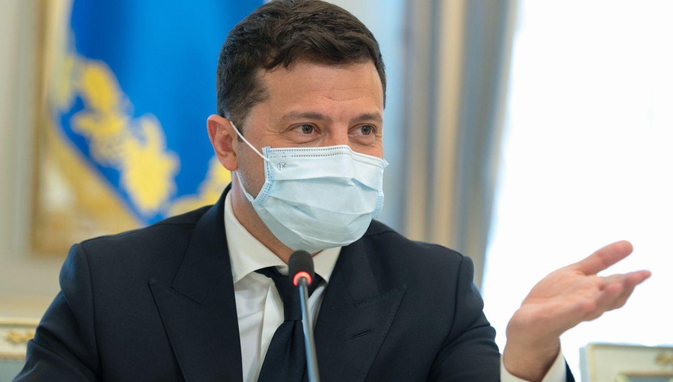 Prezydent Ukrainy Wołodymyr Zełenski (fot. PAP/EPA/PRSIDENTIAL PRESS SERVICE / HANDOUT)