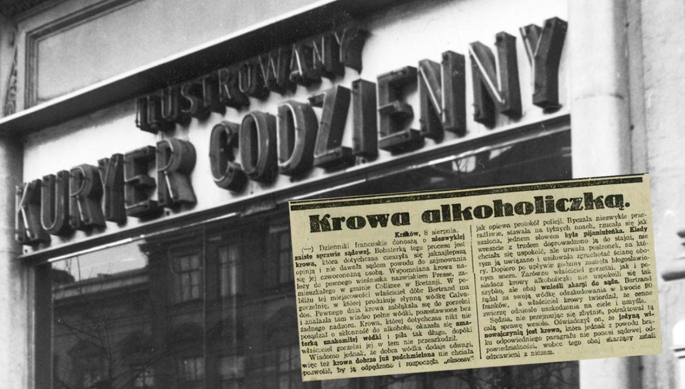 """Przedwojenne gazety prześcigały się w poszukiwaniu sensacji (fot. NAC / """"Ilustrowany Kurier Codzienny"""")"""