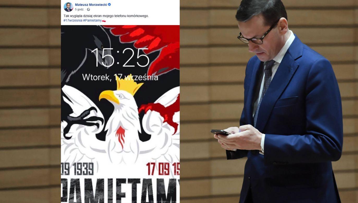 Internauci pytali premiera, skąd pobrać tapetę (fot. PAP/Jacek Turczyk/TT/Mateusz Morawiecki)