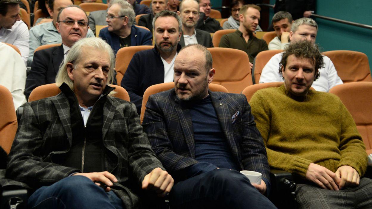 Na pokazie prasowym pojawili się twórcy spektaklu (fot. Jan Bogacz)