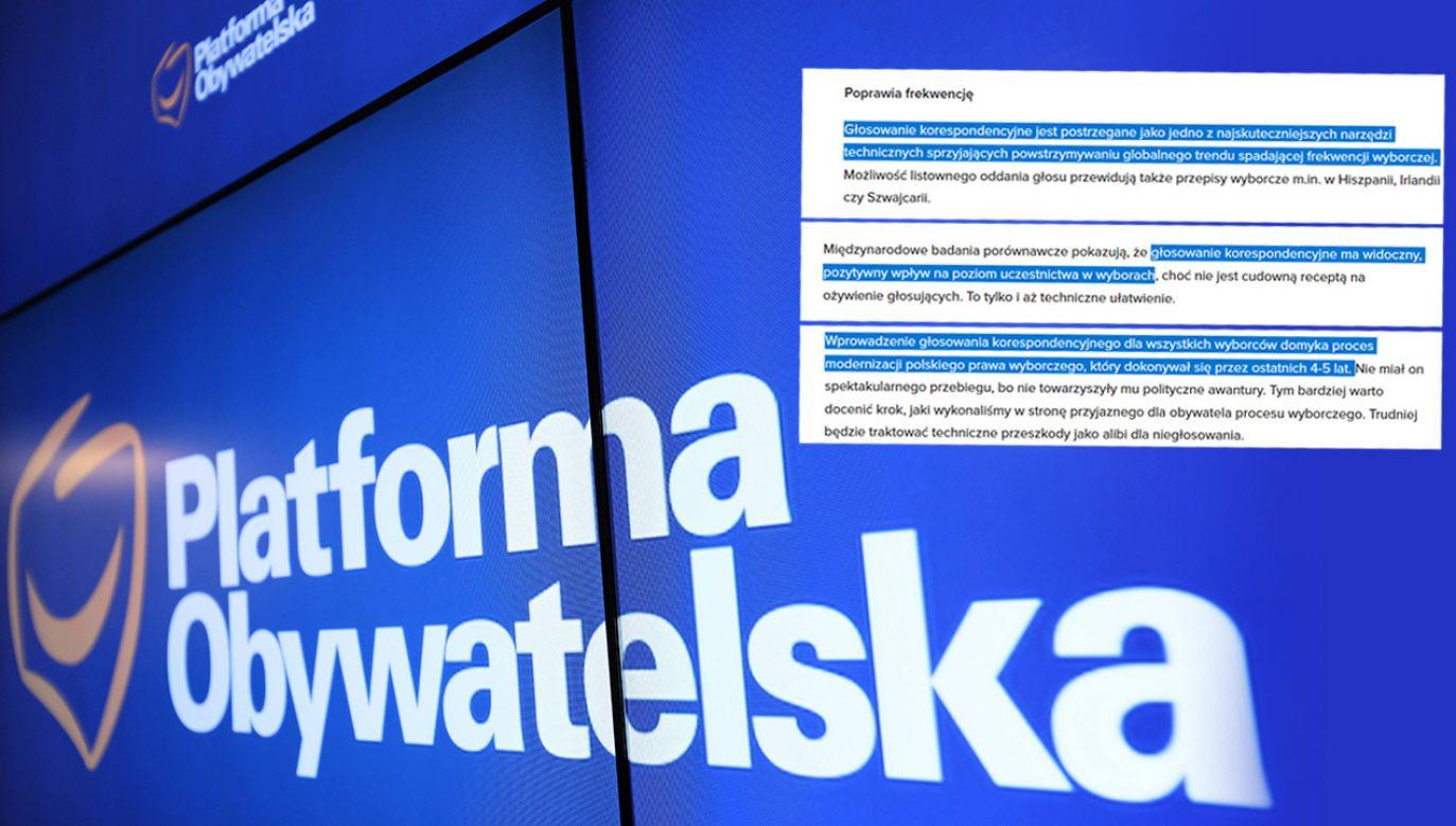 Kilka lat temu opozycja miała inne zdanie na temat głosowania korespondencyjnego (fot. PAP/Leszek Szymański)