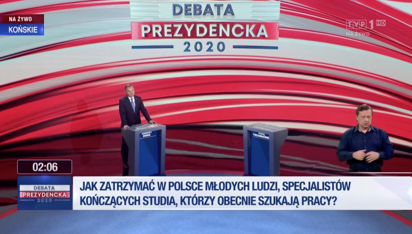 Wybory prezydenckie 2020. Polityk PO nieobecny na debacie (fot. TVP)