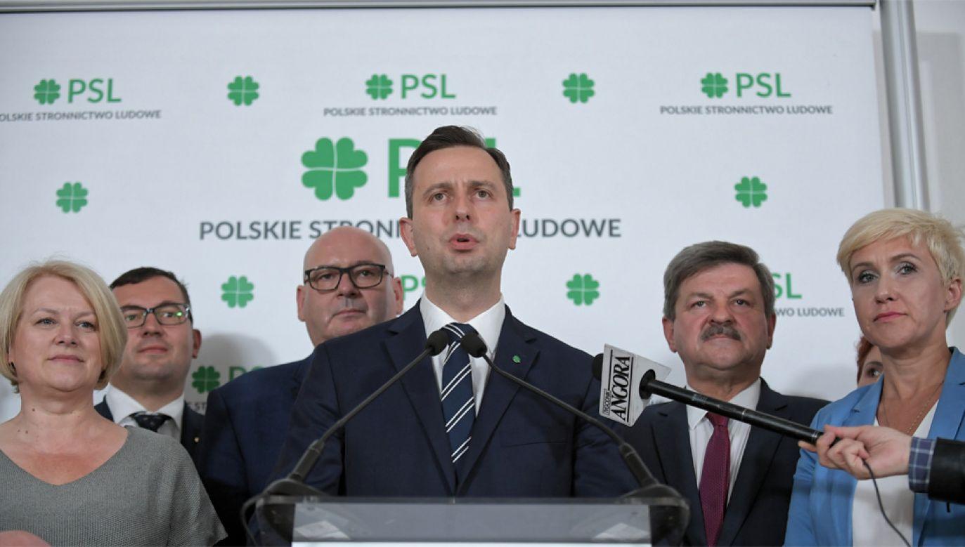 Prezes PSL Władysław Kosiniak-Kamysz chce budować blok centrowy (fot. PAP/Marcin Obara)