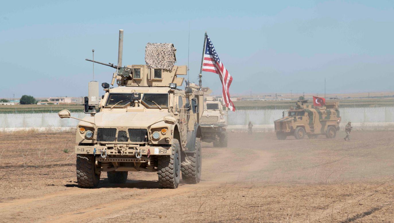 Amerykańscy żołnierze w Syrii (fot. Alec Dionne/Handout via REUTERS)