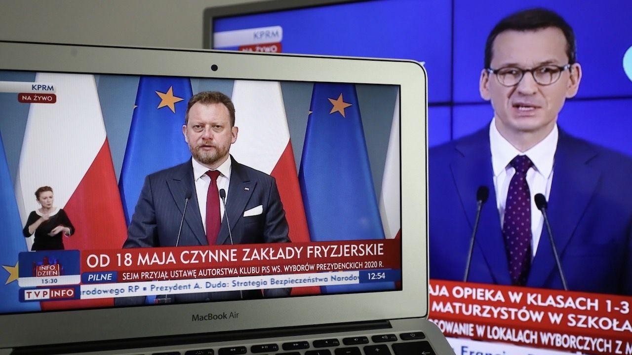 Szef rządu był pytany o stanowisko w sprawie ostatnich doniesień medialnych dotyczących ministra zdrowia (fot. PAP/Paweł Supernak)