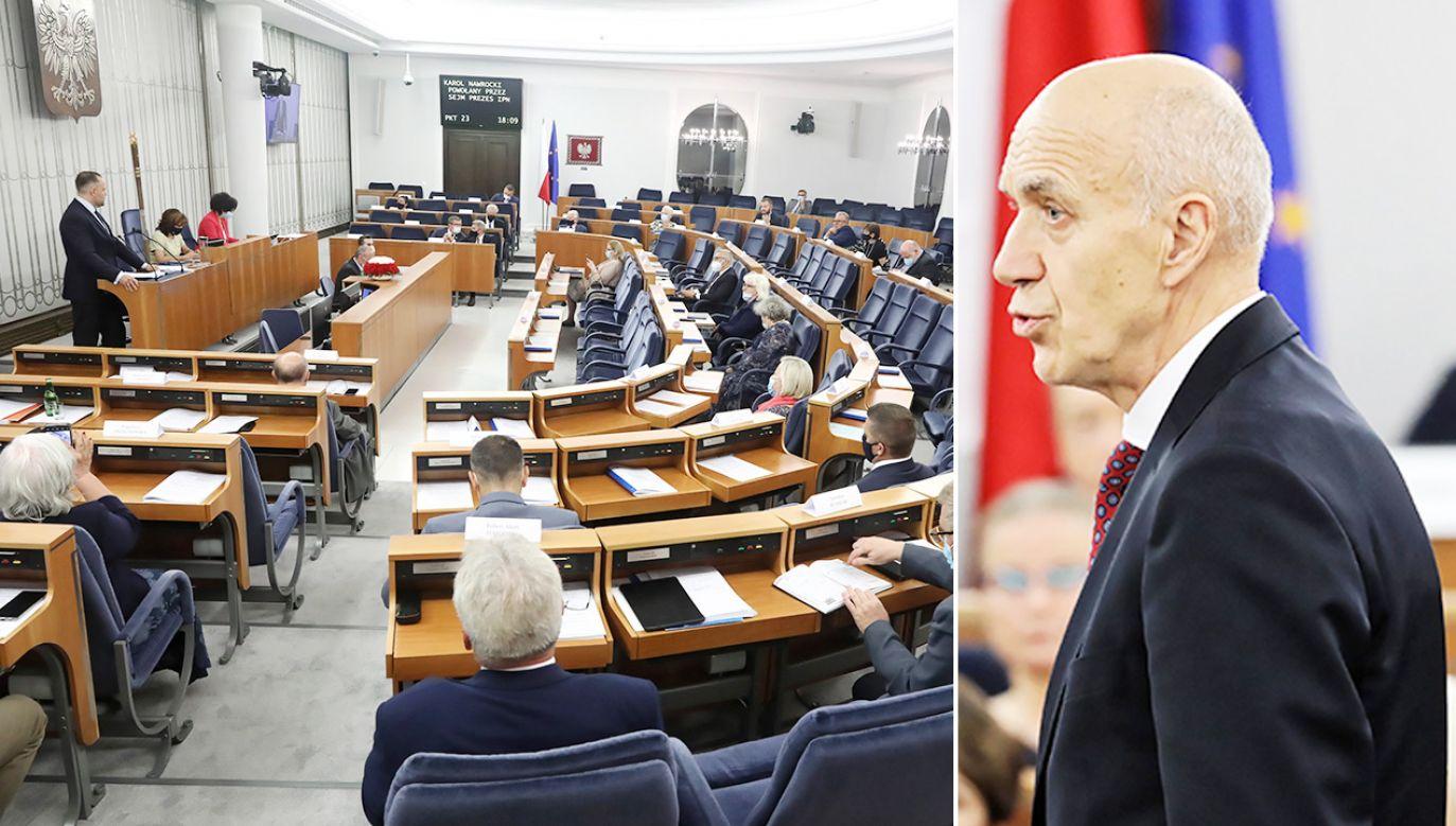 Mężydło głosował wbrew dyscyplinie (fot. PAP/Tomasz Gzell)