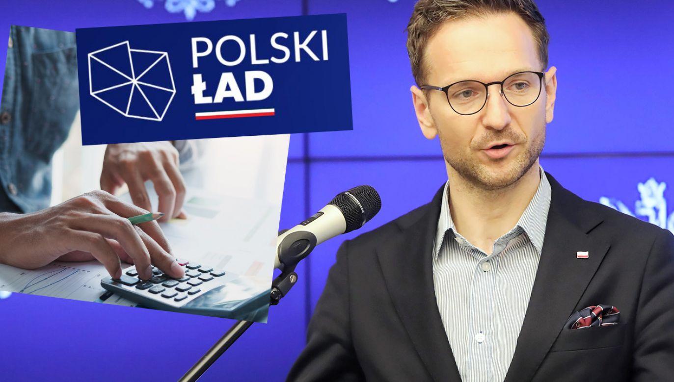 Pozytywne zmiany odczujemy na własnych kontach – zapowiada minister Waldemar Buda (fot. PAP/Wojciech Olkuśnik; Shutterstock)