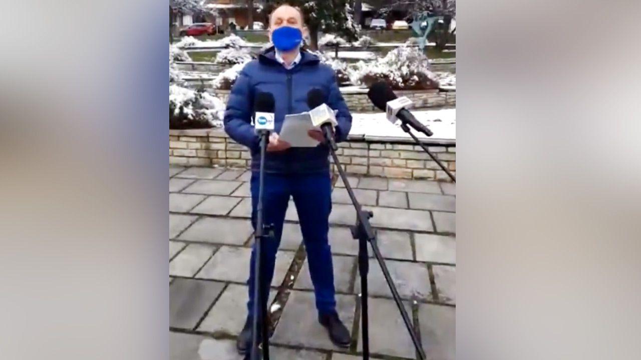 """Marek Sowa twierdził, że Daniel Obajtek """"szybko przepisał nieruchomości na mamę"""" (fot.TT/Cezary Tomczyk)"""