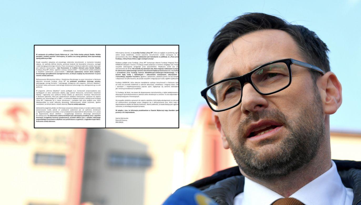 Prezes PKN ORLEN Daniel Obajtek (fot. PAP/Darek Delmanowicz)