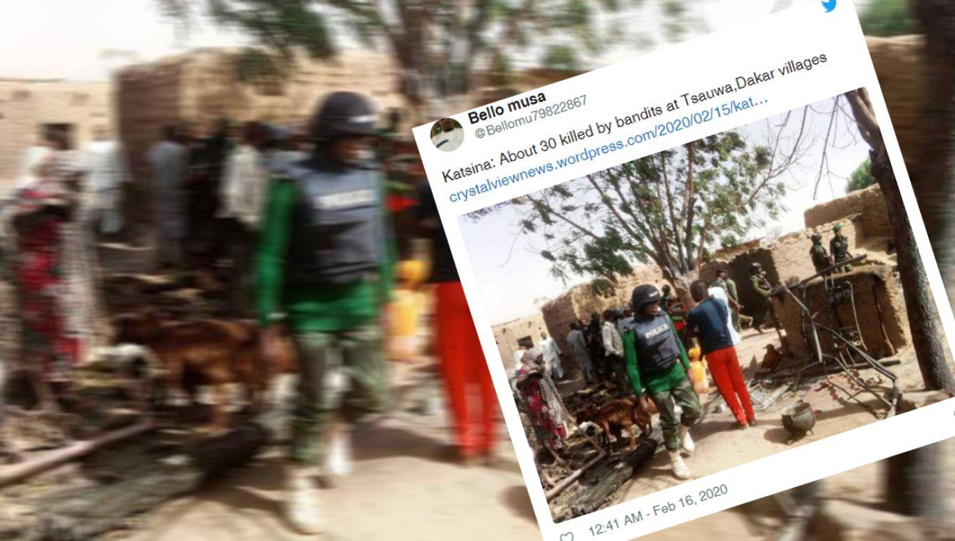 W ataku zginęło 30 osób (fot, Twitter/@@Bellomu79822867)