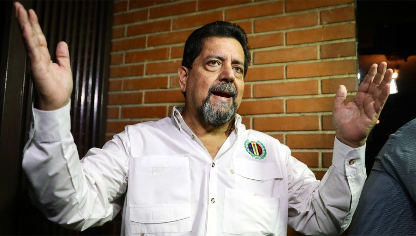 Edgara Zambrano został aresztowany pod zarzutem zdrady (fot. PAP/EPA)