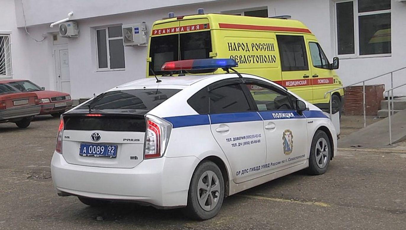 Ranny napastnik trafił do szpitala gdzie zmarł (fot. TT/MVD_official)