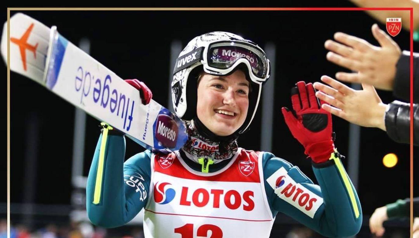 Kinga Rajda zajęła 21. miejsce w zawodach Pucharu Świata w skokach narciarskich w Sapporo (fot. F/Polski Związek Narciarski)