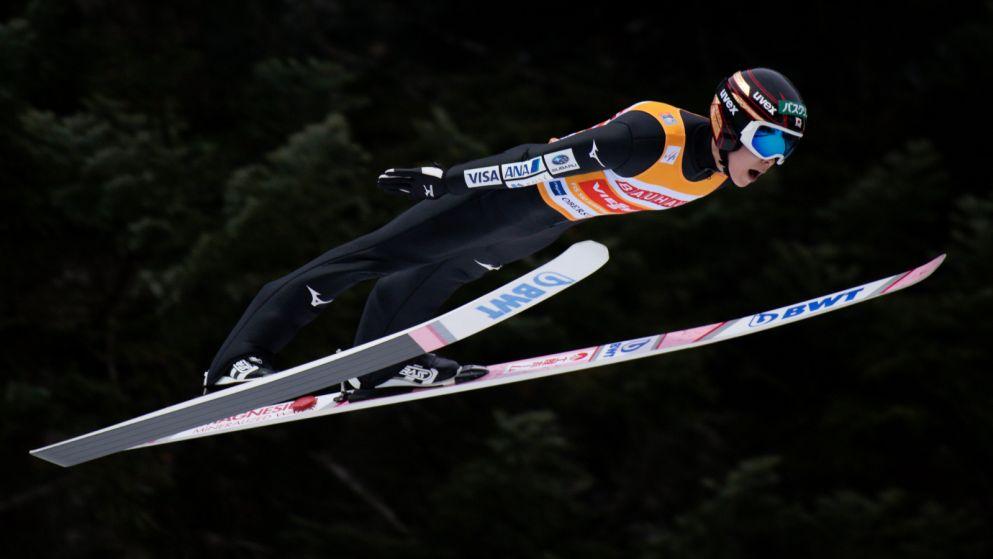 Skoki narciarskie Kobayashi loty Oberstdorf (sport.tvp.pl)